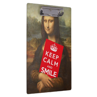 Keep Calm And Smile Clipboard