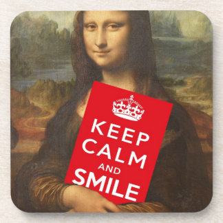 Keep Calm And Smile Drink Coaster