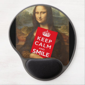 Keep Calm And Smile Gel Mouse Pad