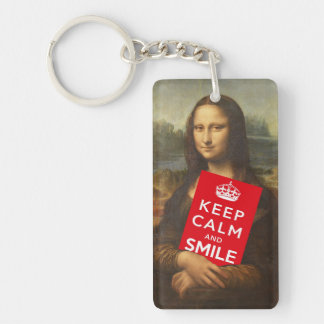 Keep Calm And Smile Keychain