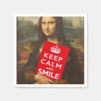 Keep Calm And Smile Napkin