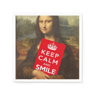 Keep Calm And Smile Napkin