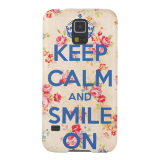 Keep Calm and Smile On Galaxy S5 Case