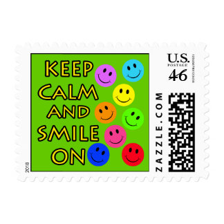 Keep Calm and Smile On Stamp