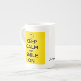 Keep Calm and Smile On Yellow Tea Cup