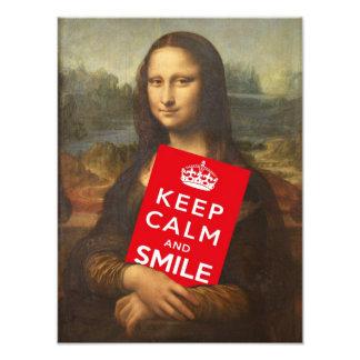Keep Calm And Smile Photo Print