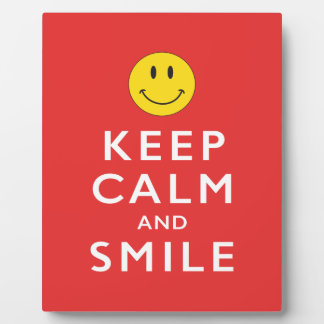 KEEP CALM AND SMILE PLAQUES