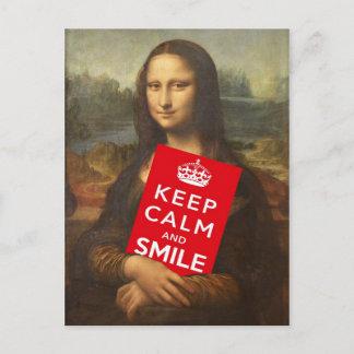 Keep Calm And Smile Postcard