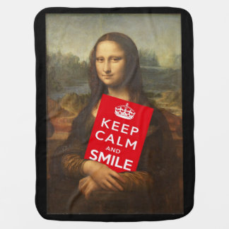 Keep Calm And Smile Stroller Blanket