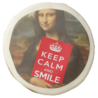Keep Calm And Smile Sugar Cookie