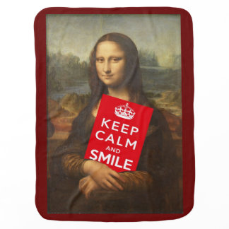 Keep Calm And Smile Swaddle Blanket