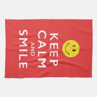 KEEP CALM AND SMILE TOWEL