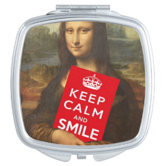 Keep Calm And Smile Vanity Mirror