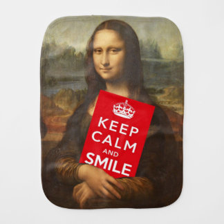 Keep Calm And Smile Burp Cloth