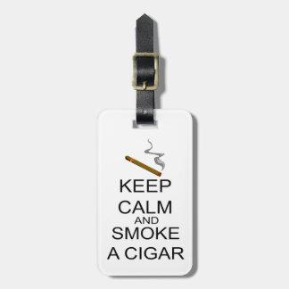 Keep Calm And Smoke A Cigar Bag Tags