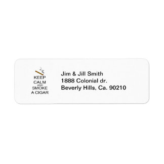 Keep Calm And Smoke A Cigar Return Address Labels