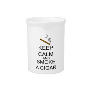 Keep Calm And Smoke A Cigar Pitcher