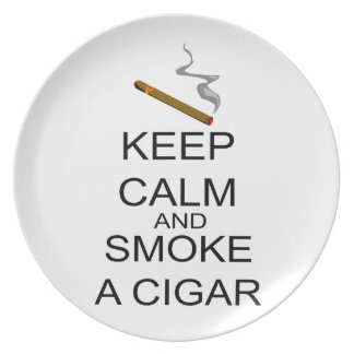 Keep Calm And Smoke A Cigar Party Plates