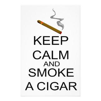 Keep Calm And Smoke A Cigar Stationery