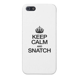 KEEP CALM AND SNATCH iPhone 5 CASE