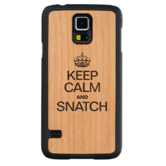 KEEP CALM AND SNATCH CARVED® CHERRY GALAXY S5 SLIM CASE