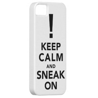Keep Calm and Sneak On - iPhone Case