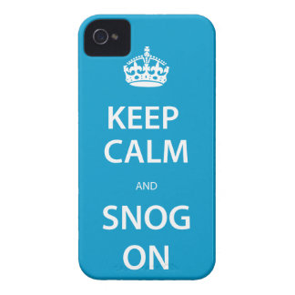 Keep Calm and Snog On iphone 4 Case