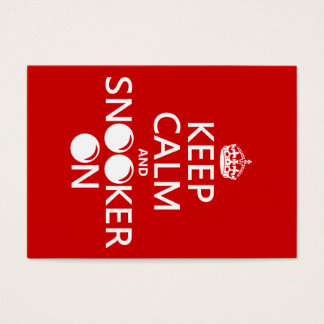 Keep Calm and Snooker On (all colors) Business Card