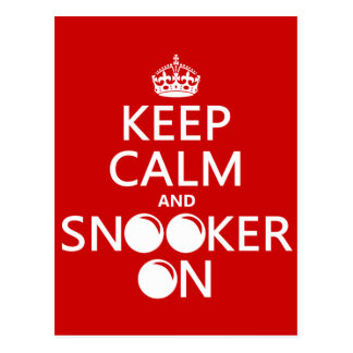Keep Calm and Snooker On (all colors) Postcard
