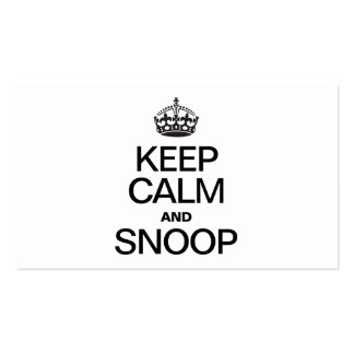 KEEP CALM AND SNOOP BUSINESS CARD