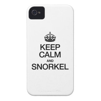KEEP CALM AND SNORKEL iPhone 4 COVERS
