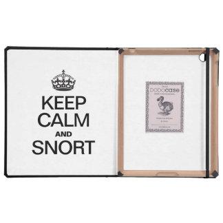 KEEP CALM AND SNORT iPad CASE