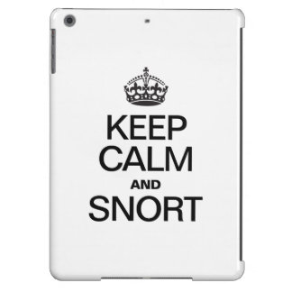 KEEP CALM AND SNORT iPad AIR CASES