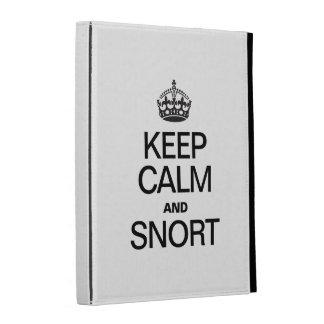 KEEP CALM AND SNORT iPad FOLIO CASES