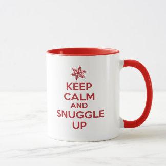 Keep Calm And Snuggle Up Mug (Red)