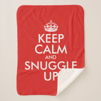 Keep Calm And Snuggle Up Personalized Sherpa Blanket