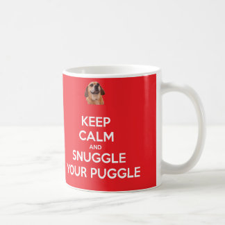 Keep Calm and Snuggle Your Puggle MUG - Red