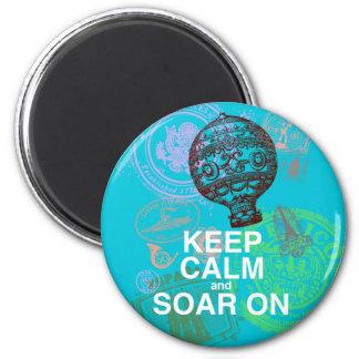 Keep Calm and Soar On fun art print Refrigerator Magnet
