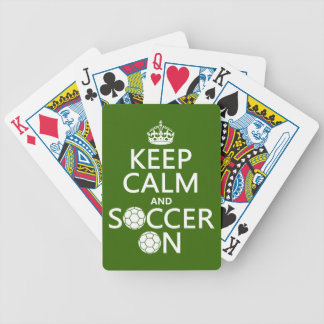 Keep Calm and Soccer On Bicycle Playing Cards
