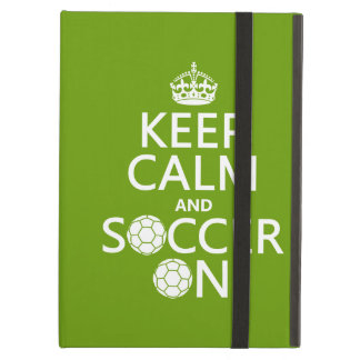 Keep Calm and Soccer On Case For iPad Air