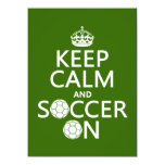 Keep Calm and Soccer On Custom Announcement