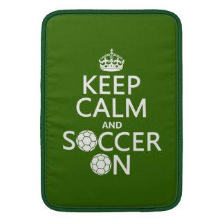 Keep Calm and Soccer On MacBook Air Sleeve