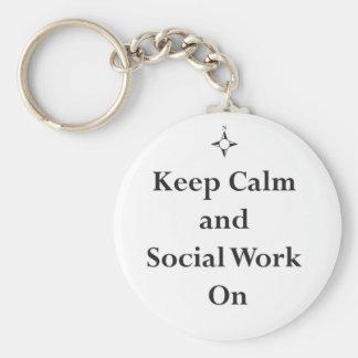 Keep Calm and Social Work On Keychain