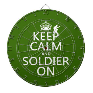 Keep Calm and Soldier On (any background color) Dart Boards