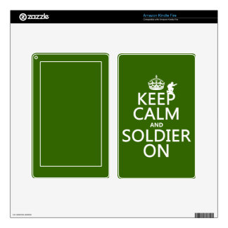 Keep Calm and Soldier On (any background color) Kindle Fire Skin