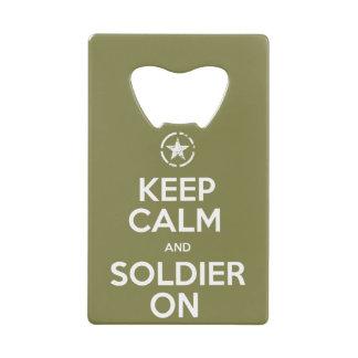 """Keep Calm and Soldier On"" Bottle Opener Wallet Bottle Opener"