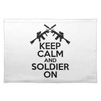 Keep Calm and Soldier On Placemat