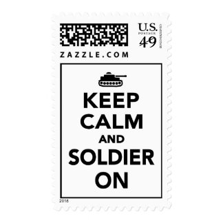 Keep calm and Soldier on Postage