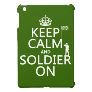 Keep Calm and Soldier On (UK flag)(any color) Case For The iPad Mini