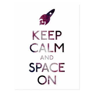 Keep Calm and Space On Postcard